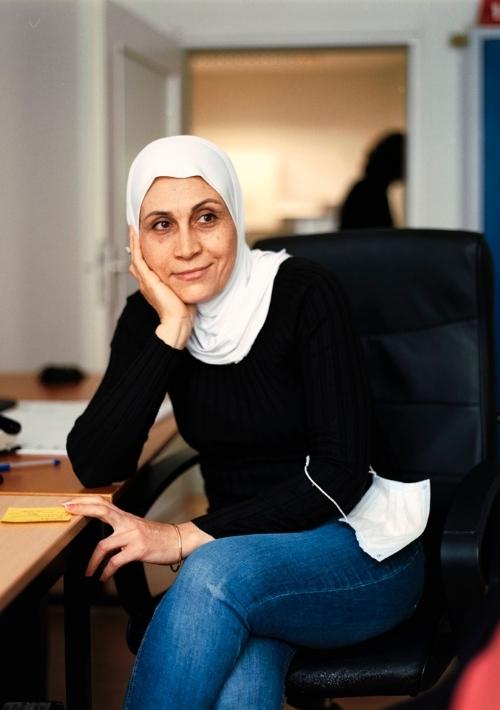 """Petra engagiert sich für """"Back on Track"""", um Kindern aus Syrien Zugang zu Bildung zu ermöglichen."""
